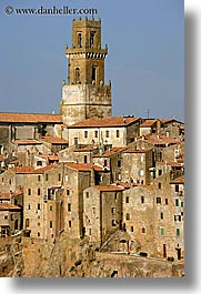 cities, cityscapes, europe, italy, old, pitigliano, towns, tuscany, vertical, photograph
