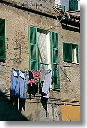 clothes, europe, hangings, italy, laundry, pitigliano, towns, tuscany, vertical, photograph