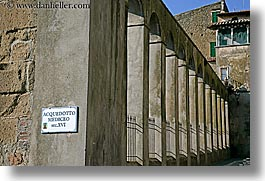 aquaduct, europe, horizontal, italy, pillars, pitigliano, towns, tuscany, photograph