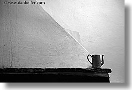 abstracts, black and white, coffee pot, europe, horizontal, italy, poderi di coiano, towns, tuscany, photograph