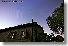 coiano, europe, horizontal, italy, nite, poderi di coiano, star trails, stars, stones, towns, tuscany, windows, photograph