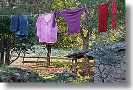 europe, hangings, horizontal, italy, laundry, poderi di coiano, towns, tuscany, photograph