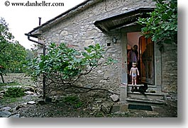 babies, boys, cats, childrens, doors, europe, horizontal, italy, jack and jill, poderi di coiano, toddlers, towns, trees, tuscany, photograph