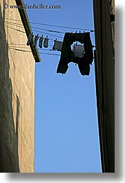 europe, hangings, italy, laundry, populonia, towns, tuscany, vertical, photograph