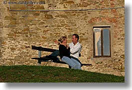 europe, horizontal, italy, kissing, lovers, populonia, towns, tuscany, photograph