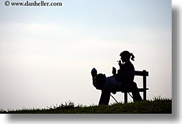 europe, horizontal, italy, populonia, silhouettes, smoking, towns, tuscany, womens, photograph