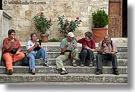 eating, europe, horizontal, ice cream, italy, people, san quirico, towns, tuscany, photograph