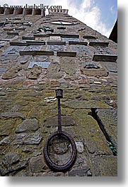 europe, holders, irons, italy, scarperia, stones, torch, towns, tuscany, vertical, photograph