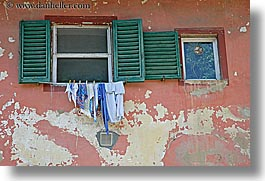 clothes, europe, from, horizontal, italy, laundry, scarperia, towns, tuscany, windows, photograph