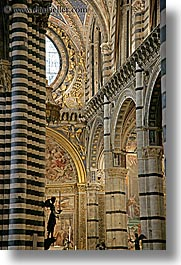 angels, arts, churches, europe, italy, pillars, religious, siena, statues, towns, tuscany, vertical, photograph