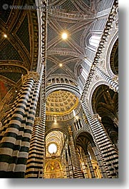ceilings, churches, europe, italy, religious, siena, towns, tuscany, vertical, photograph
