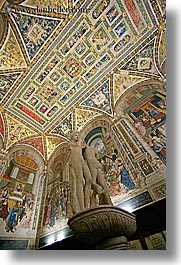 arts, churches, europe, frescoes, gallery, italy, marble, museums, paintings, religious, sculptures, siena, towns, tuscany, vertical, photograph