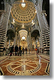 churches, europe, floors, inlaid, italy, marble, religious, siena, towns, tuscany, vertical, photograph