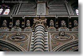 arts, churches, europe, heads, horizontal, italy, marble, popes, religious, sculptures, siena, towns, tuscany, photograph