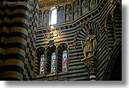 arts, churches, europe, glasses, horizontal, italy, marble, religious, sculptures, siena, stained, stained glass, statues, towns, tuscany, windows, photograph