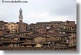 bell towers, cities, cityscapes, europe, horizontal, italy, siena, towns, tuscany, photograph
