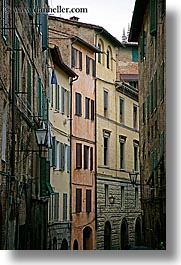 buildings, europe, italy, siena, towns, tuscany, vertical, windows, photograph