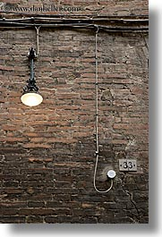 abstracts, bricks, europe, italy, lights, siena, towns, tuscany, vertical, walls, photograph