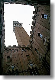bell towers, bricks, europe, italy, siena, towns, tuscany, vertical, photograph
