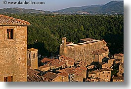 cityscapes, europe, from, horizontal, italy, men, sorano, towns, tuscany, viewing, windows, photograph