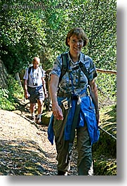 dale, europe, hiking, italy, jan, people, tourists, tuscany, vertical, womens, photograph