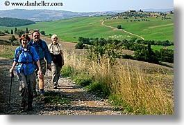 dale, europe, happy, hiking, horizontal, italy, jan, men, people, sandy, steve, tourists, tuscany, womens, photograph