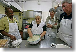 busy, cooking, cooks, europe, foods, horizontal, italy, kareti, kitchen, men, serious, tourists, tuscany, photograph