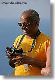 cameras, europe, glasses, happy, italy, kareti, laugh, men, photographers, rao, sunglasses, tourists, tuscany, vertical, photograph