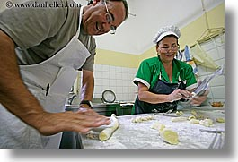 cooking, cooks, europe, glasses, happy, horizontal, italy, kitchen, malutta, max, men, pasta, tourists, tuscany, womens, photograph