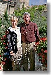 couples, europe, happy, italy, men, phil, sandy, senior citizen, sims, tourists, tuscany, vertical, womens, photograph