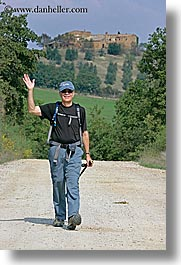 dave, europe, hiking, italy, men, thornton, tourists, tuscany, vertical, photograph