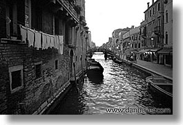 black and white, canals, europe, horizontal, italy, venecia, venezia, venice, photograph