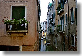 canals, europe, flowers, horizontal, italy, long exposure, venecia, venezia, venice, windows, photograph