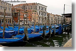 blues, boats, canals, europe, gondolas, horizontal, italy, topped, venecia, venezia, venice, photograph