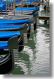 blues, boats, canals, europe, gondolas, italy, topped, venecia, venezia, venice, vertical, photograph