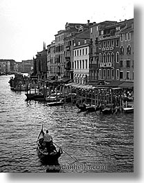 black and white, canals, europe, grand canal, italy, venecia, venezia, venice, vertical, photograph