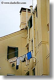 clothes, europe, hanging laundry, italy, laundry, venecia, venezia, venice, vertical, photograph