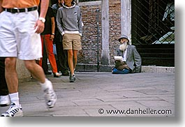 beggar, europe, horizontal, italy, people, venecia, venezia, venice, photograph