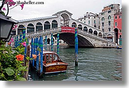 boats, bridge, europe, horizontal, italy, rialto, rialto bridge, venecia, venezia, venice, photograph