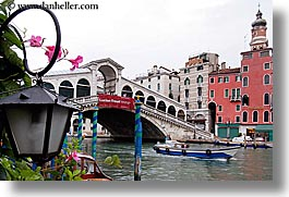 bridge, europe, horizontal, italy, lanterns, rialto, rialto bridge, venecia, venezia, venice, photograph