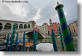 bridge, europe, horizontal, italy, poles, rialto, rialto bridge, venecia, venezia, venice, photograph