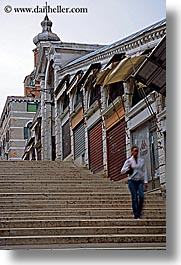 bridge, europe, italy, rialto, rialto bridge, stairs, venecia, venezia, venice, vertical, photograph