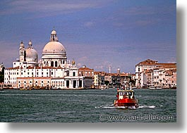 boats, europe, horizontal, italy, red, venecia, venezia, venice, water views, photograph