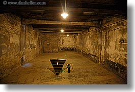 auschwitz, buildings, chamber, europe, gas, horizontal, poland, prison, prison camp, structures, photograph