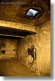 auschwitz, buildings, chamber, europe, gas, poland, prison, prison camp, slow exposure, structures, vertical, photograph