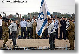 auschwitz, ceremony, europe, flags, horizontal, israeli, jewish, military, officer, poland, religious, photograph