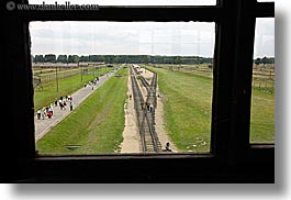 auschwitz, buildings, europe, from, guards, horizontal, poland, prison, prison camp, structures, towers, views, windows, photograph