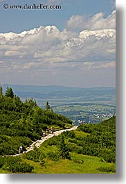 activities, clouds, europe, high, hikers, hiking, nature, paths, poland, scenics, sky, vertical, photograph