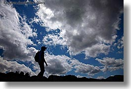 activities, clouds, emotions, europe, hikers, hiking, horizontal, nature, poland, silhouettes, sky, solitude, photograph