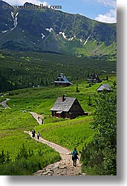 activities, europe, hikers, hiking, huts, mountains, nature, paths, poland, vertical, photograph